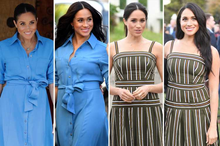 Meghan Markle praised for recycling dresses she wore during pregnancy – four months after giving birth to Archie