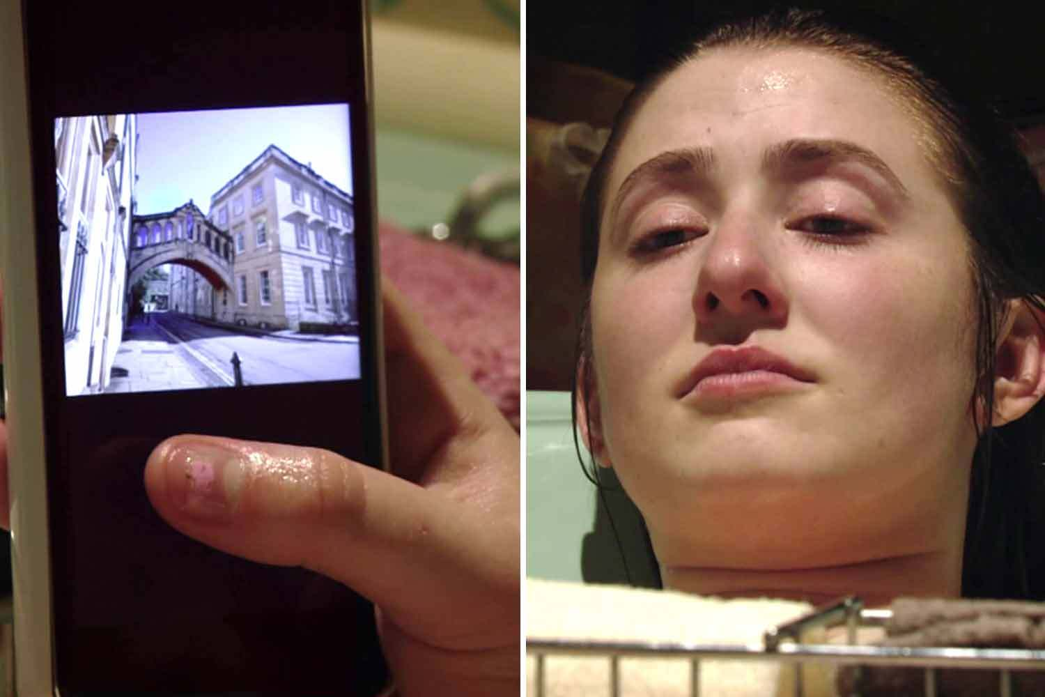 EastEnders fans spot blunder as Bex Fowler's phone plops into the bath