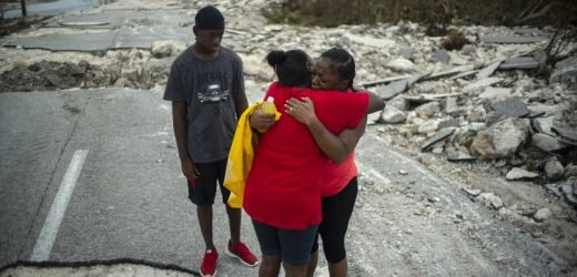 Tropical storm nears northern Bahamas, complicating hurricane relief