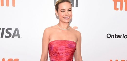 Brie Larson Reveals Gorgeous Toned Legs In Pink Strapless Mini Gown At 'Just Mercy' Premiere At TIFF — Pic