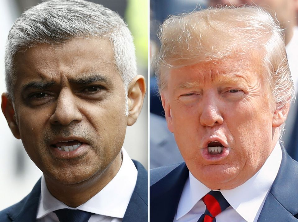 Donald Trump mocks 'totally incompetent' London Mayor 'Sadique Khan' and tells him to 'stay out of our business' as the pair clash AGAIN