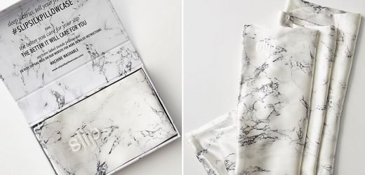 Anthropologie's Marble Silk Pillowcase Is the Chicest Way to Protect Hair and Skin