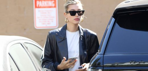 Hailey Baldwin Shows Off Legs For Days In Short White Mini Dress While Grabbing Dinner In L.A.
