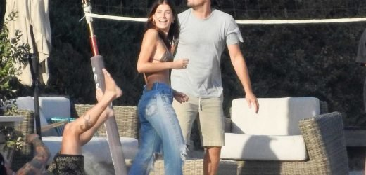 Leonardo DiCaprio and Girlfriend Camila Morrone Hit the Beach to Play Volleyball