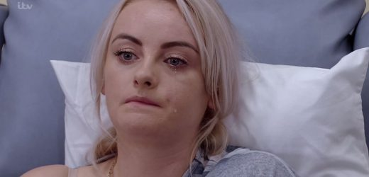 Coronation Street fans sob as Sinead Tinker breaks down in tears as she worries about dying