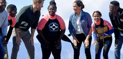 Prince Harry, Meghan dance with surfers and talk mental health in South Africa