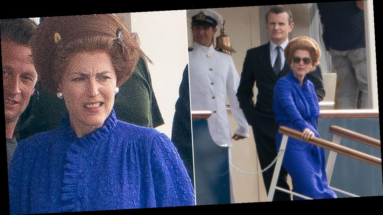 First look at Gillian Anderson as Margaret Thatcher as she joins The Crown