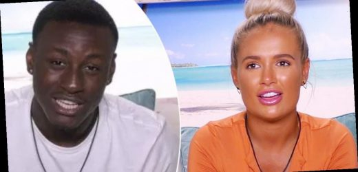 Love Island's Sherif Lanre apologises to Molly-Mae Hague after 'kick' which caused him to be removed from villa