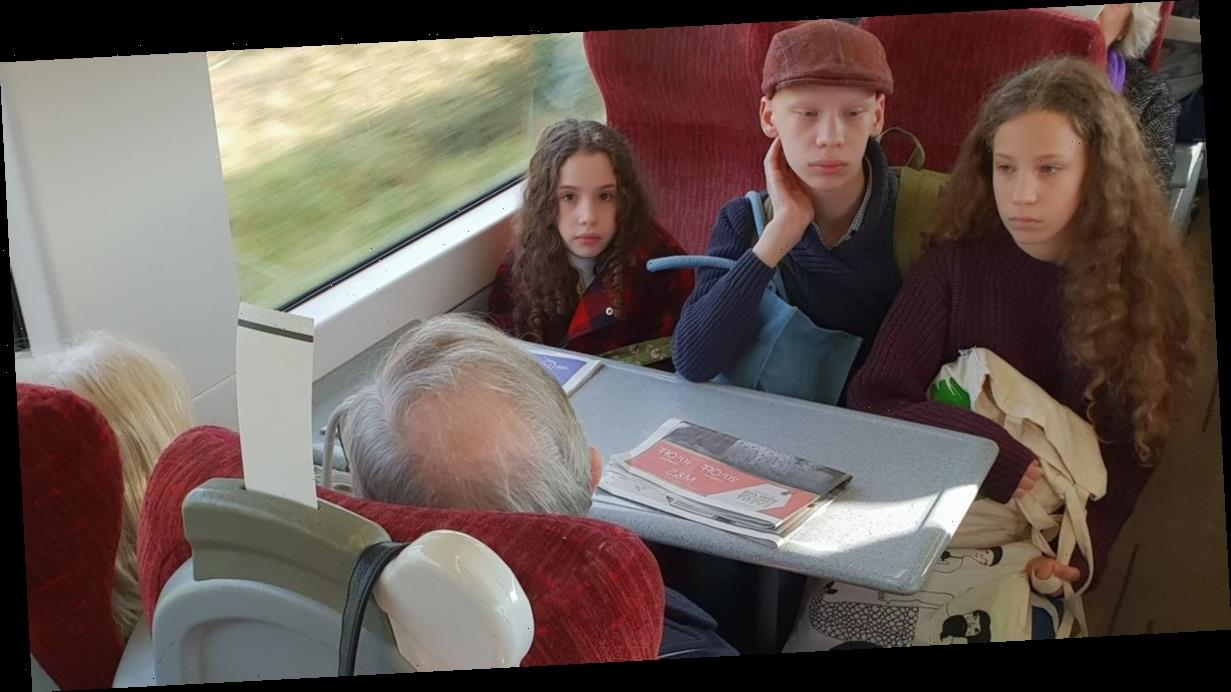 Mum slams elderly couple who refuse to give up train seats she'd booked for kids