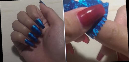 This Gum Wrapper Metallic Nail Hack Looks So Easy — How Did I Not Know It Existed?