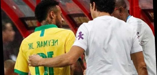 Neymar suffers fresh injury as PSG star hobbles off 13 minutes into Brazil's friendly with Nigeria – The Sun