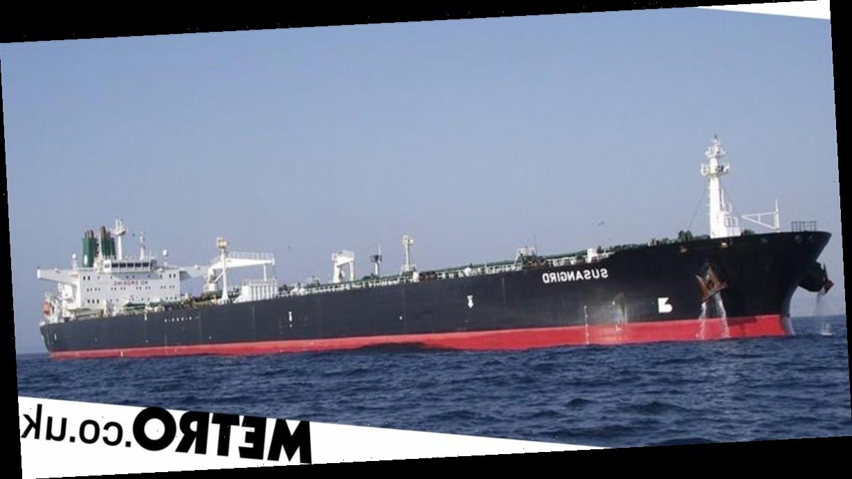 Iranian oil tanker hit by missiles in 'terrorist' attack