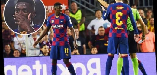 Barcelona winger Ousmane Dembele could miss El Clasico after being shown straight red card for telling referee 'you're very bad' – The Sun