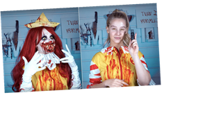 Warning: This Creepy Ronald McDonald Makeup Tutorial Is Not For the Faint of Heart