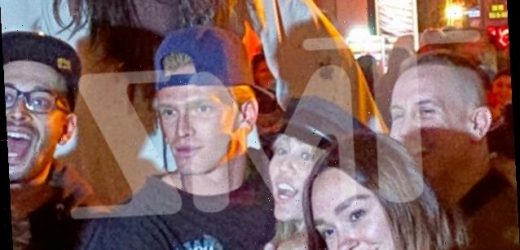 Miley Cyrus & Cody Simpson Pictured Making Out Before Scary Night Out At Universal Studios