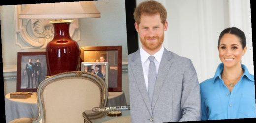 Queen Elizabeth Seems to Remove Photo of Prince Harry & Meghan Markle On Display in Palace