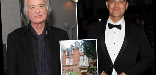 Robbie Williams risks reigniting bitter feud with Jimmy Page as he's forced to move back into house next door to rocker he branded 'mentally ill' in property row