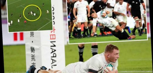 England 'robbed' of two tries after Tom Curry and Jamie George penalised in Rugby World Cup semi-final – The Sun