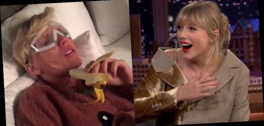 Taylor Swift Freaks Out Over a Banana in New Post-Surgery Video