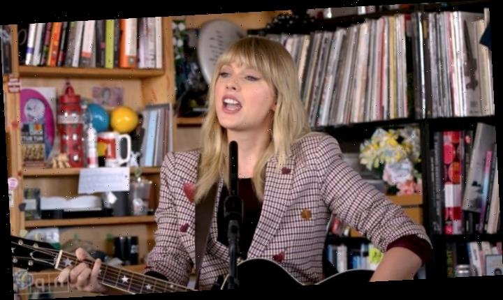 Watch Taylor Swift Play Four Songs 'How I First Wrote Them' on NPR's Tiny Desk Concert