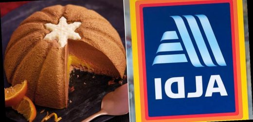 Aldi launch Chocolate Orange Bombe dessert and it's covered in edible glitter