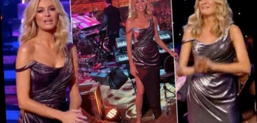 Tess Daly sizzles in thigh split dress for Strictly Come Dancing Blackpool special