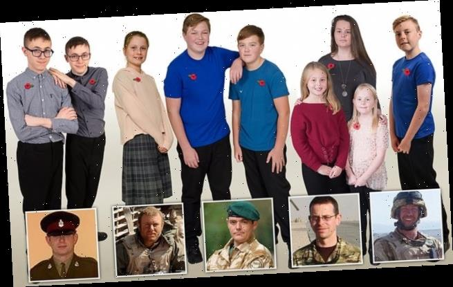 Eight children who lost fathers in conflict will march past Cenotaph