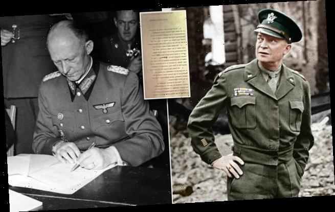 Draft of the historic WWII surrender agreement is on sale for $3.5mil
