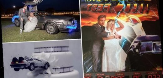 Back To The Future couple celebrate their wedding with a £10,000 party