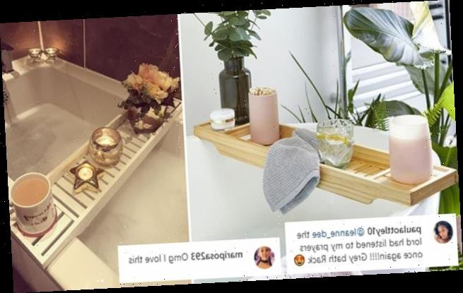 Dunelm's £10 Instagram famous bath rack is back in stock