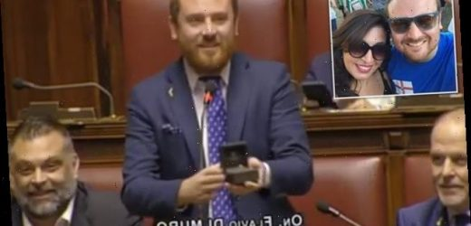 Italian MP proposes to his girlfriend in the middle of a debate