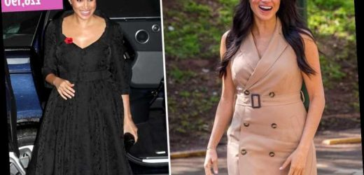 Meghan has swapped the high-street for high-end to show off her 'status' and 'contrast' from Kate, says expert – The Sun