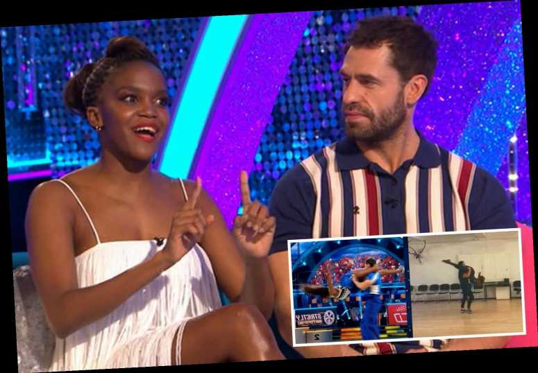 Strictly's Oti Mabuse admits she 'feared for her life' with dangerous lift after flying across the room in rehearsals – The Sun