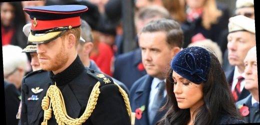 Duchess Meghan Visits Field of Remembrance for 1st Time With Prince Harry