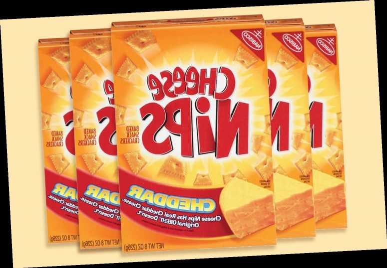 Boxes of Nabisco cheese nips recalled over fears they have lumps of plastic in them