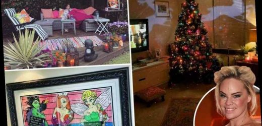 Inside Hollyoaks star Tamara Wall's festive house with giant Christmas tree and Disney villain artwork