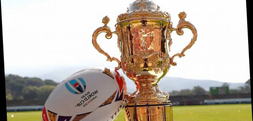 Who is presenting the Rugby World Cup trophy and who handed it over at the 2015 tournament? – The Sun