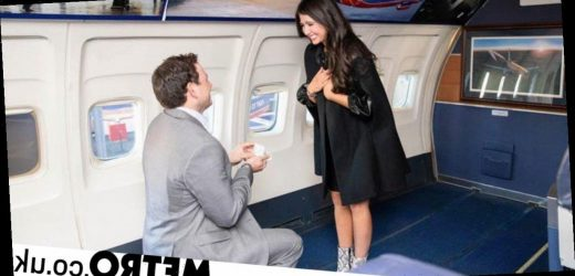 Man proposes to girlfriend on plane – one year after they met on a flight