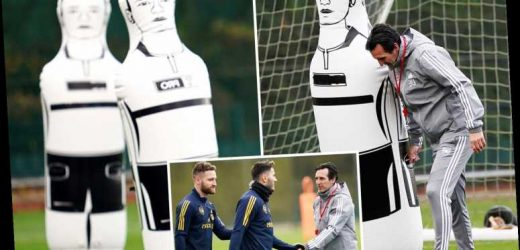 Emery gives new defender a run out in training as Arsenal manager tries to stop his dummies shipping goals – The Sun