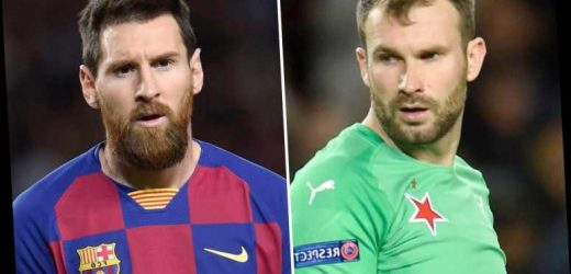 Messi and Barcelona stars slammed for refusing to shake hands with Slavia Prague heroes after Champions League draw – The Sun