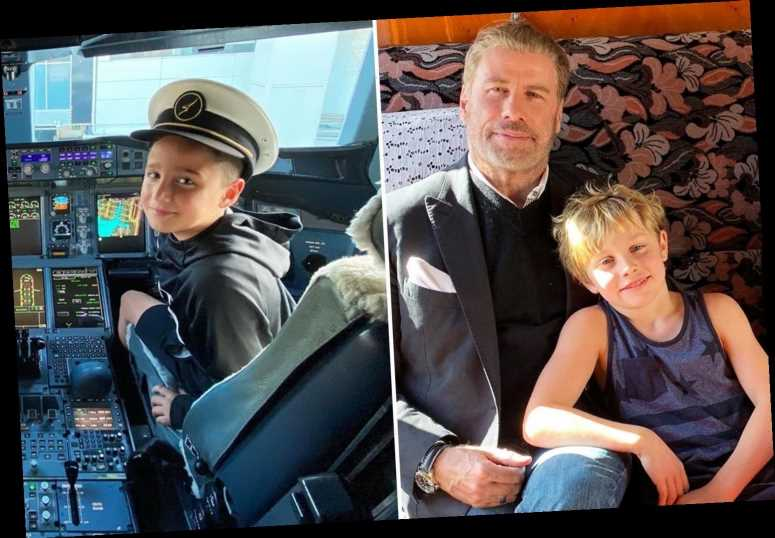 John Travolta posts rare photo of his 8-year-old son in cockpit of airplane – The Sun