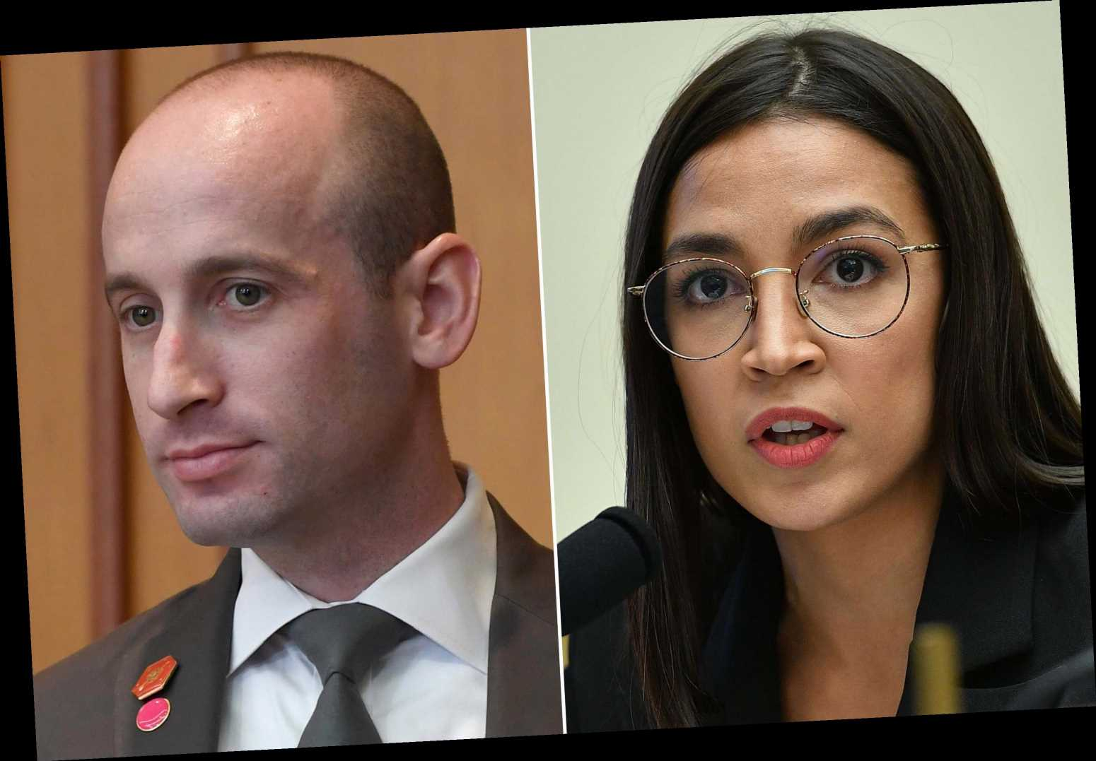 AOC calls on Stephen Miller to resign over leaked emails