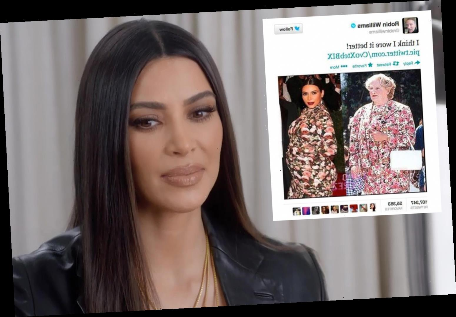 Kim Kardashian says she 'cried all the way home' after being compared to Mrs Doubtfire at the Met Gala