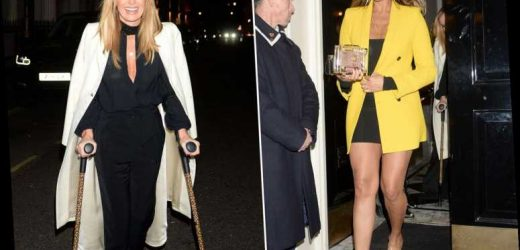 Alesha Dixon wows in a mustard blazer and little black dress during night out with Amanda Holden – The Sun