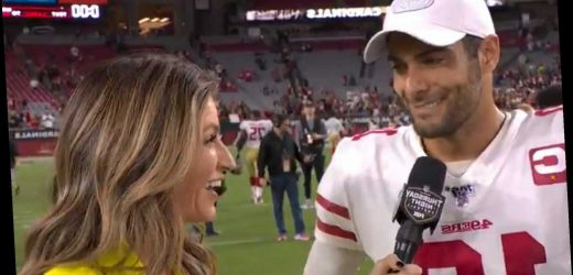 Jimmy Garoppolo tells Erin Andrews being 8-0 'feels great, baby'