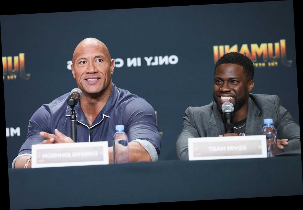Kevin Hart Heckles Dwayne Johnson During Jumanji Press Tour 11 Weeks After His Accident