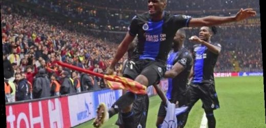 Galatasaray 1-1 Club Bruges: Visitors have two sent off in celebrations