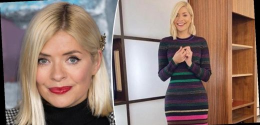Holly Willoughby outfits: This Morning star looks ravishing in a rainbow dress