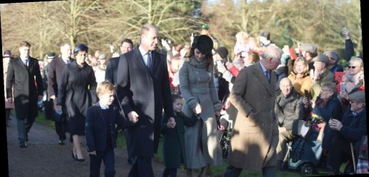 Prince George wears smart suit as he joins Charlotte for Sandringham service