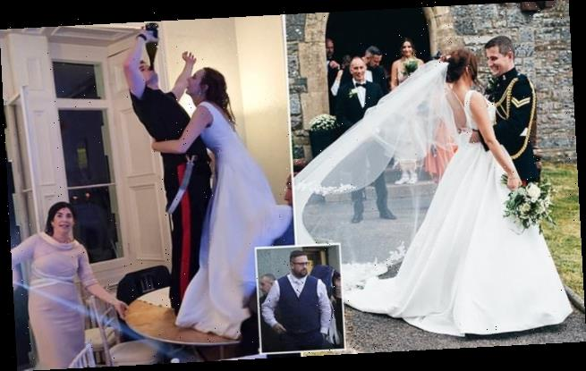 Bride who was punched by groom's best-man brother